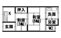 青山荘[1-3号室]の間取り