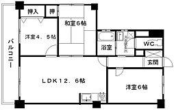 ビレッジ365浄水[3階]の間取り