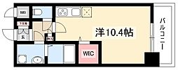 OT.residence名駅 4階ワンルームの間取り