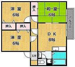 サンガーデン栄 A棟[1階]の間取り