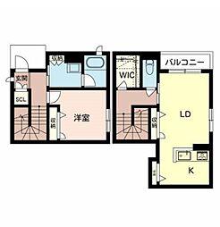 阪急宝塚本線 庄内駅 徒歩7分の賃貸アパート 1階1LDKの間取り