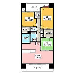 アウルステージ東島田[12階]の間取り