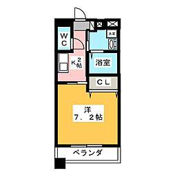 MARCHE一宮[8階]の間取り