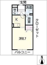 GREAT ADVANCEA棟[1階]の間取り