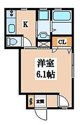 メゾンソレイユ長栄寺[101号室]の間取り
