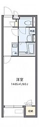 クレイノ百合桜[107号室]の間取り