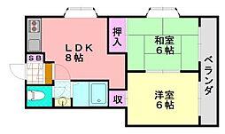 リード岡田II[205号室]の間取り
