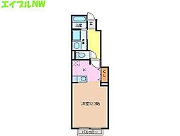 サイスフィールド Ⅱ[1階]の間取り