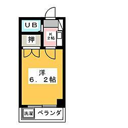 ノーブル・タウニー吉田[4階]の間取り
