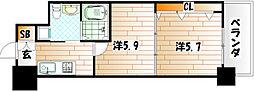 No.65 クロッシングタワー[21階]の間取り