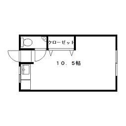 清豊荘[1階]の間取り