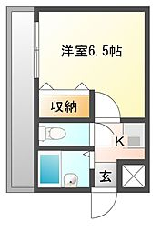 ケイマンション[4階]の間取り