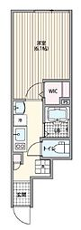 東京メトロ千代田線 千駄木駅 徒歩5分の賃貸アパート 1階1Kの間取り
