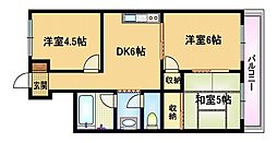大阪府大阪市都島区都島北通1丁目の賃貸マンションの間取り