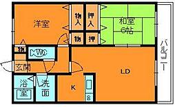 奈良県生駒郡三郷町立野北2丁目の賃貸アパートの間取り