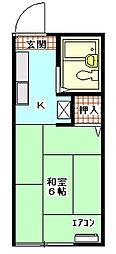 サンビレッジII[2階]の間取り