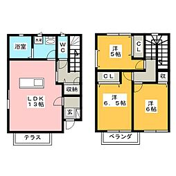 [一戸建] 岡山県岡山市中区原尾島2丁目 の賃貸【/】の間取り