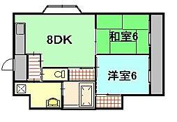 三宅ビル(4丁目)[3階]の間取り