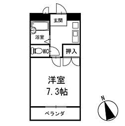 ブリッジテシマ 1階[102号室]の間取り