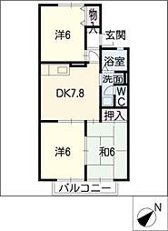 ル・ロワールB棟[2階]の間取り