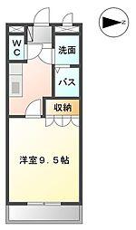 メルヴェーユ 宮崎[102号室]の間取り