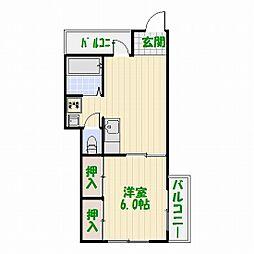 お花茶屋マンション[3階]の間取り