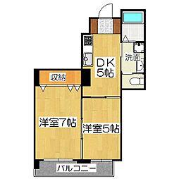 OKUNO御所東ビル[2階]の間取り