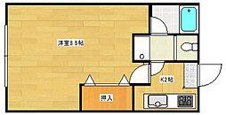 マンションイレブン[1階]の間取り