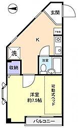 DEN勝田台[4階]の間取り