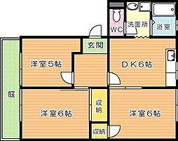 フレグランス赤坂[1階]の間取り