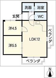 スカイハイツT−1[3階]の間取り