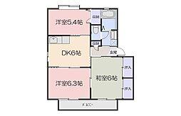 シャーメゾン大福[2階]の間取り