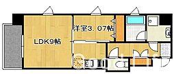 アガスティーア薬院[4階]の間取り