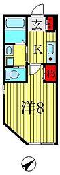 カーザレフィナーダI[1階]の間取り