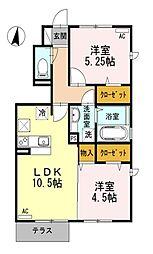 メープルハウス[1階]の間取り