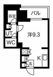 フォレシティ神田多町 10階1Kの間取り