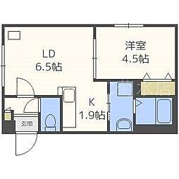北海道札幌市白石区東札幌一条6丁目の賃貸マンションの間取り