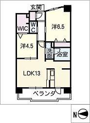 テラッツァ白壁[5階]の間取り