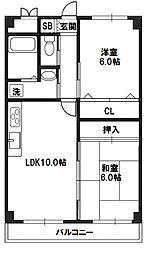 エミネンス新大阪[4階]の間取り