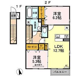メゾンみのりII[2階]の間取り