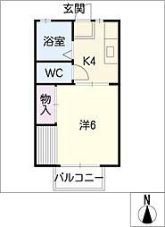ロイヤルミノウラ B棟[1階]の間取り