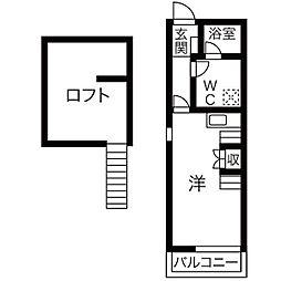 リーフ笠寺[2階]の間取り