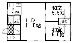 近藤マンション 1階2LDKの間取り