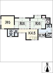 [一戸建] 愛知県豊橋市八町通5丁目 の賃貸【/】の間取り