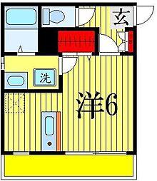 千葉県千葉市花見川区検見川町5丁目の賃貸アパートの間取り