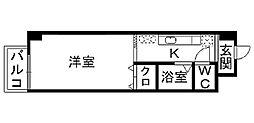福岡県北九州市小倉北区片野2丁目の賃貸マンションの間取り