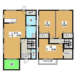 [一戸建] 三重県桑名市霞町2丁目 の賃貸【/】の間取り