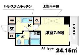 SERENiTE江坂四番館[6階]の間取り
