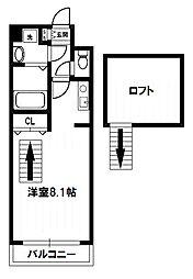リセスコートII[4階]の間取り