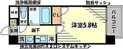 エスリード新大阪SOUTH[2階]の間取り